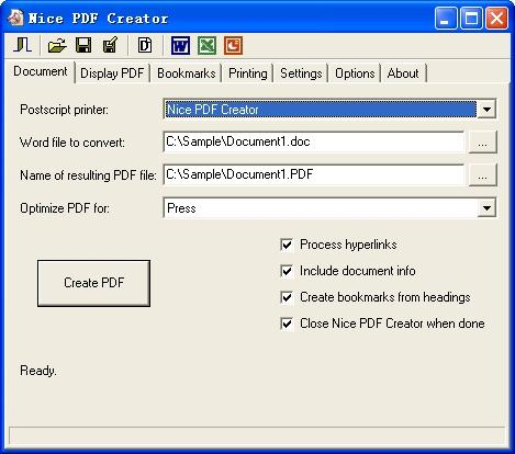 Download Nice PDF Creator
