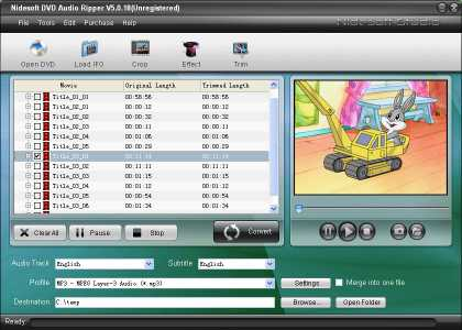 Download Nidesoft DVD Audio Ripper