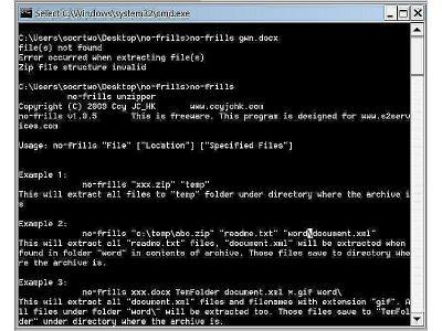 Download No-Frills Command Line Unzipper
