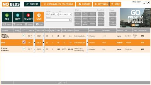 Download NOBEDS.COM free hotel management system