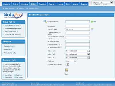 Download NolaPro Free Accounting