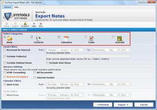 Download Notes Database Export