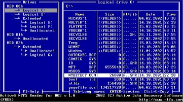 Download NTFS Reader for DOS