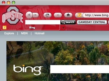 Download Ohio State Buckeyes IE Browser Theme
