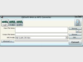 Download OJOsoft M4A to MP3 Converter
