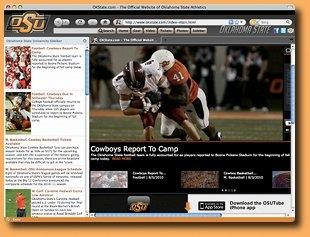 Download OK State Cowboys IE Browser Theme