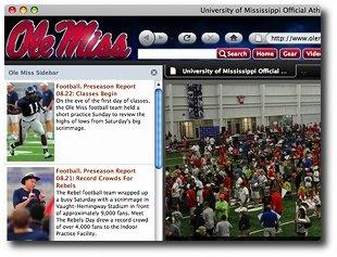 Download Ole Miss Internet Explorer Browser Theme
