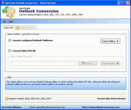 Download Outlook Conversion Tool