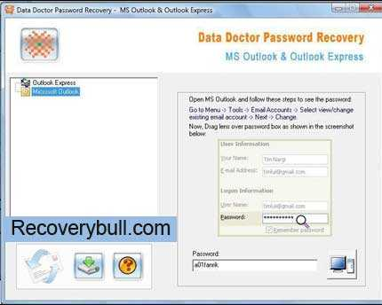 Outlook Email Passwords Recovery