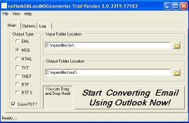 Download outlookEMLandMSGconverter