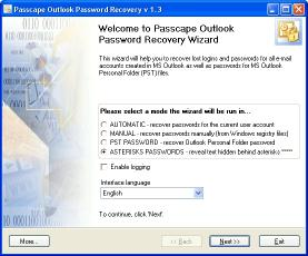 Download Passcape Outlook Password Recovery