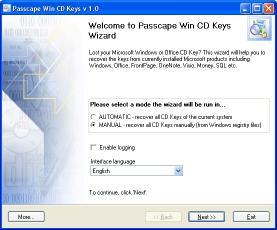 Download Passcape Win CD Keys