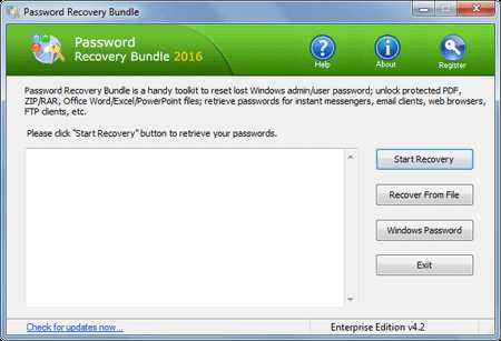 Password Recovery Bundle installer