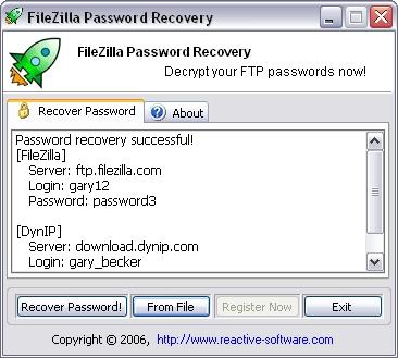 Download Password Recovery for FileZilla