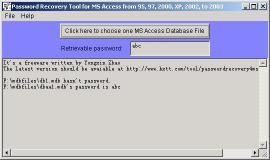 Download Password Recovery for MS Access