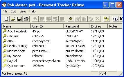 Download Password Tracker Deluxe