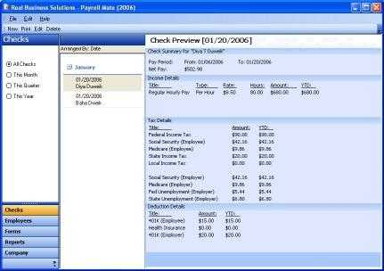 Payroll Mate Software for Payroll-2010