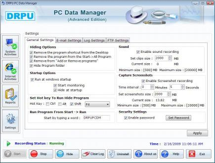 Download PC Data Manager Keylogger