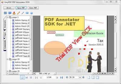 PDF Annotator SDK ActiveX for C#.NET