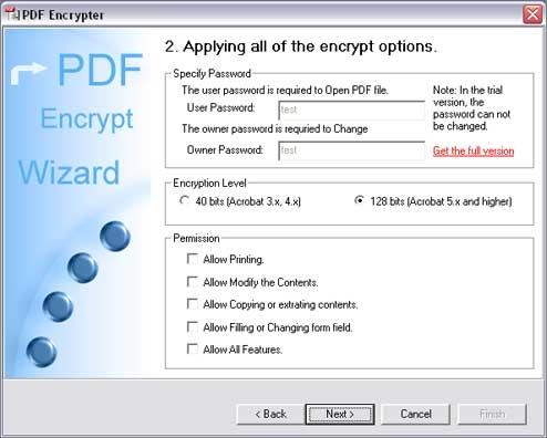 PDF Encrypter - standaloneinstaller com