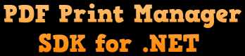 PDF Print Manager SDK for .NET