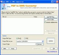 Download PDF to DWG Converter 7.5