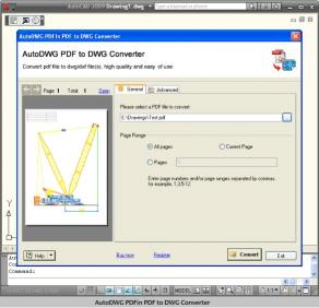 Download PDF to DWG Importer 2010