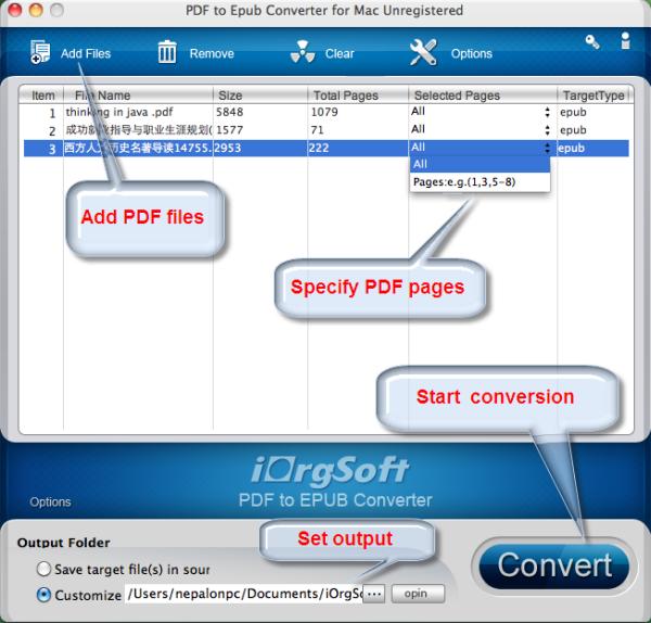 Convert pdf to epub mac