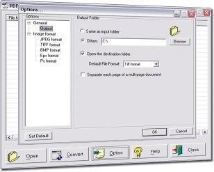 Download PDF to Jpeg/Jpg/Tiff/Bmps converter