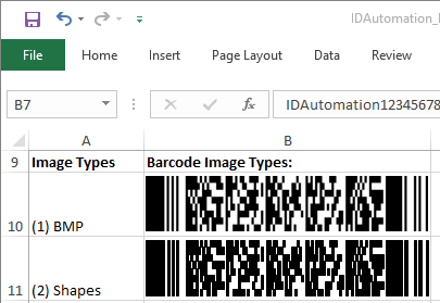 PDF417 Native Excel Barcode Generator by IDAutomation