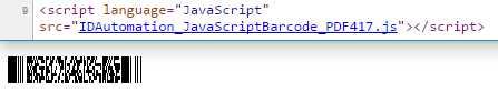 PDF417 SVG JavaScript Barcode Generator
