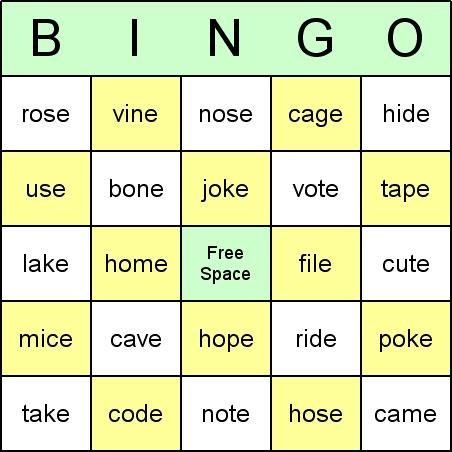 Download Phonics Bingo