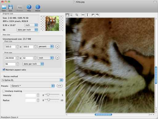 PhotoZoom Classic for Mac