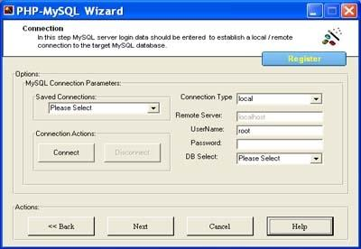 Download PHP Code Generator for MySQL