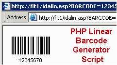 PHP Linear Barcode Generator Script