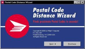 Download Postal Code Distance Wizard