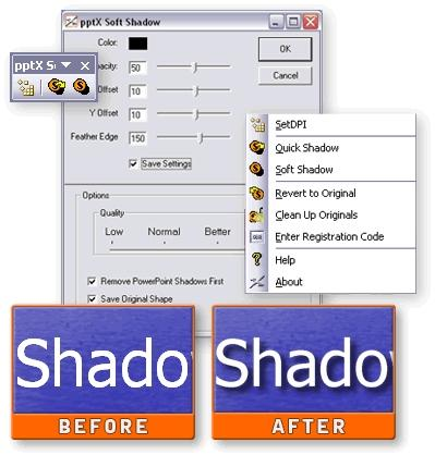 Download pptXTREME SoftShadow for PowerPoint