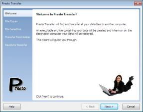 Download Presto Transfer IE and Outlook Express