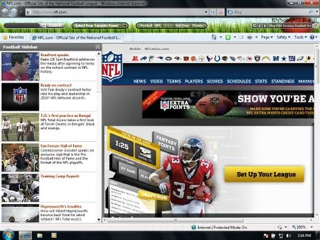 Download Pro Football IE Browser Theme