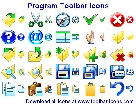 Download Program Toolbar Icons