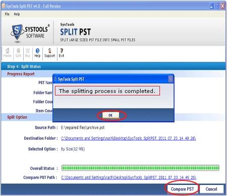 Download PST Splitter Utility