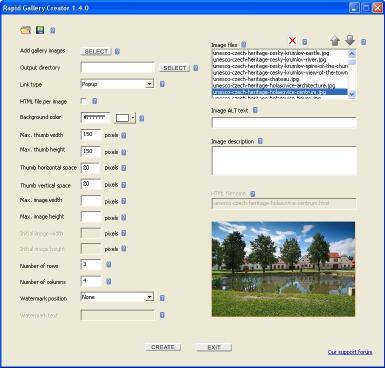 Download Rapid Gallery Creator Free