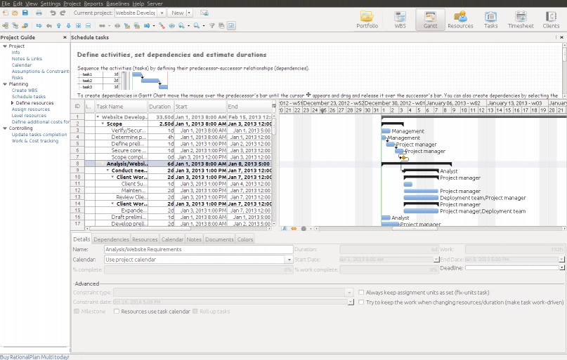 Download RationalPlan Multi Project for Linux