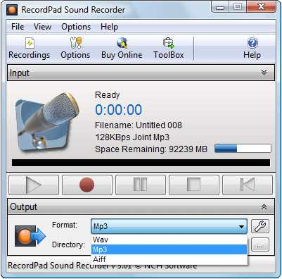 RecordPad Free Sound Recording Software