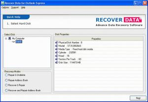 Download Recover Data for Outlook Express