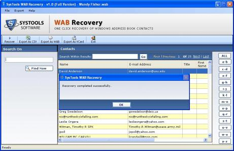 Download Recover OE WAB File