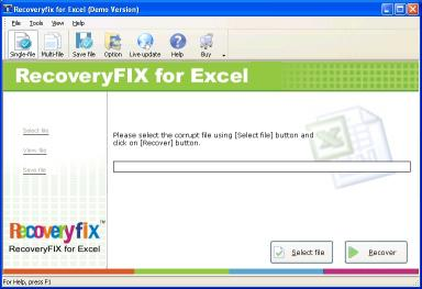 Download RecoveryFix for Excel