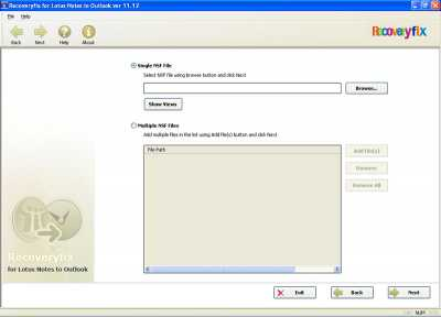 Recoveryfix for Lotus Notes to Outlook