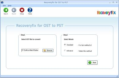 Download RecoveryFix for OST