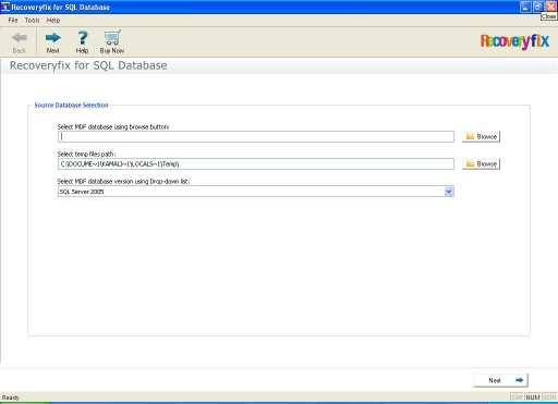 RecoveryFIX for SQL Database Recovery